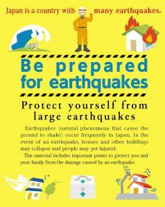 外国人のための防災冊子「地震に自信を」(英語版)
